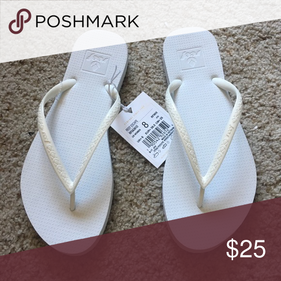 Reef white flip flops SiZe 8 new with