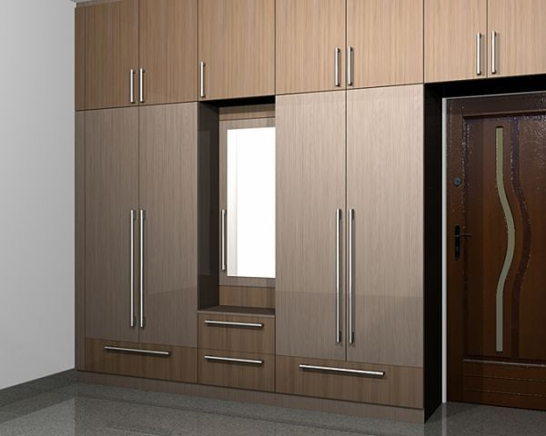 South indian kitchen interior design google search for Contemporary wardrobe designs india