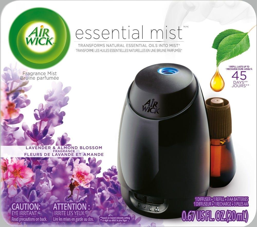 Air Wick Essential Mist Starter Kit Lavender Almond Blossom 0 67 Lbs In 2020 Fragrance Oil Diffuser Air Wick Freshener Spray
