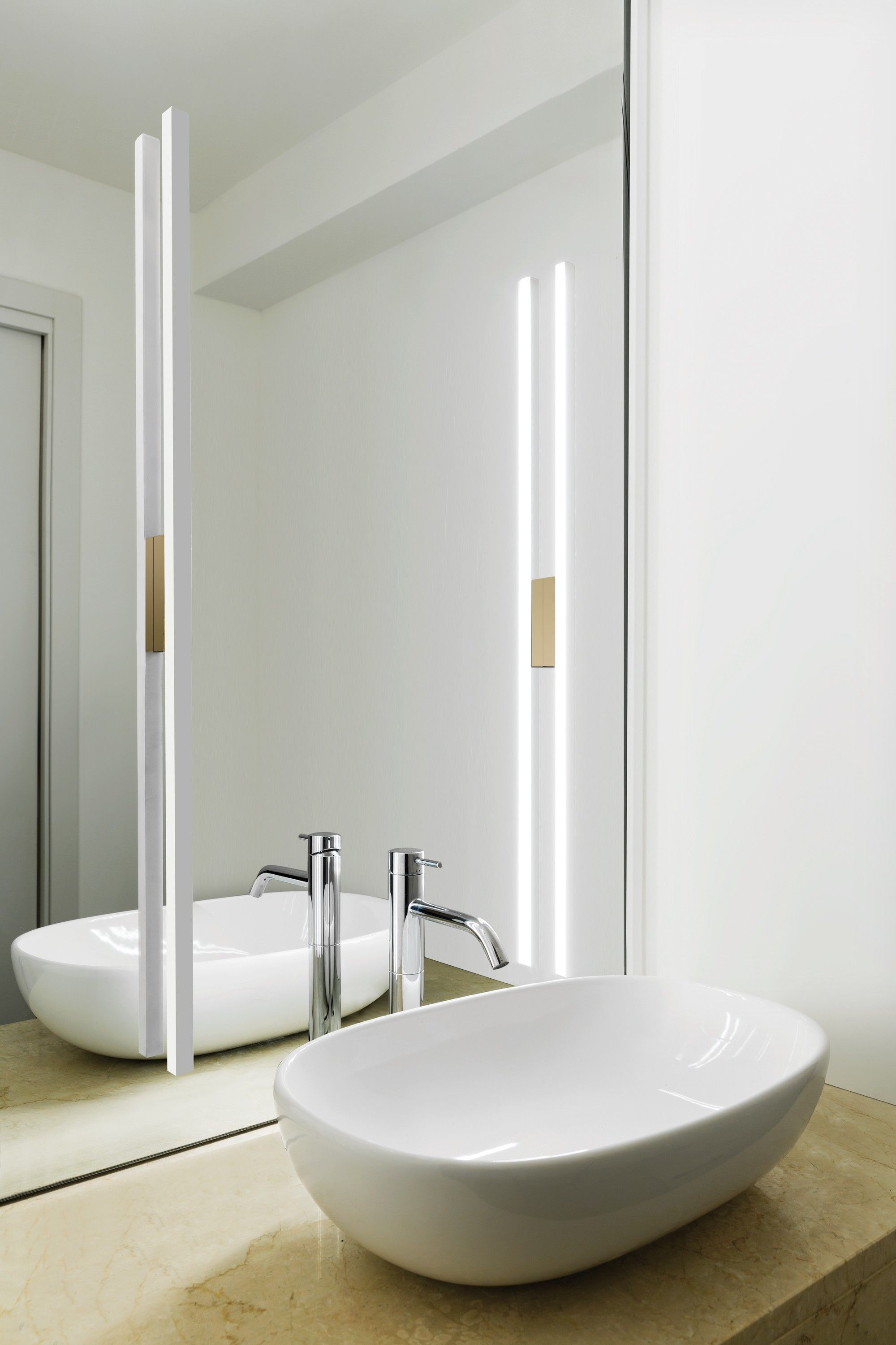 Linescapes Wall  Nemo Master Bath Wall Sconce Optioninstead Of Endearing Wall Sconces Bathroom Decorating Design