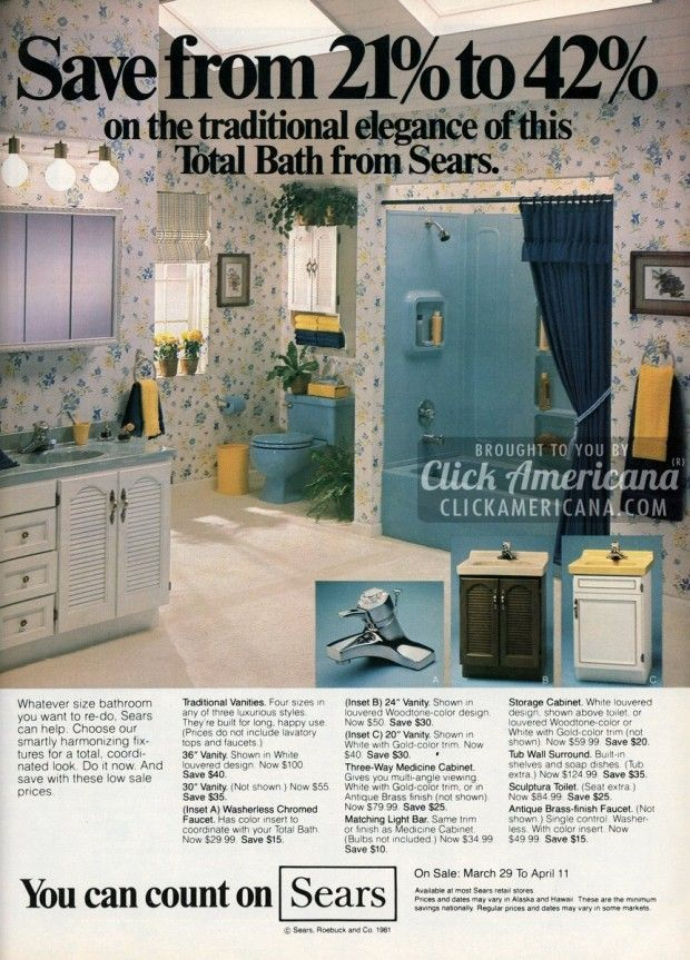 Remodel Your Bathroom With Sears Style 1981 1982 Budget