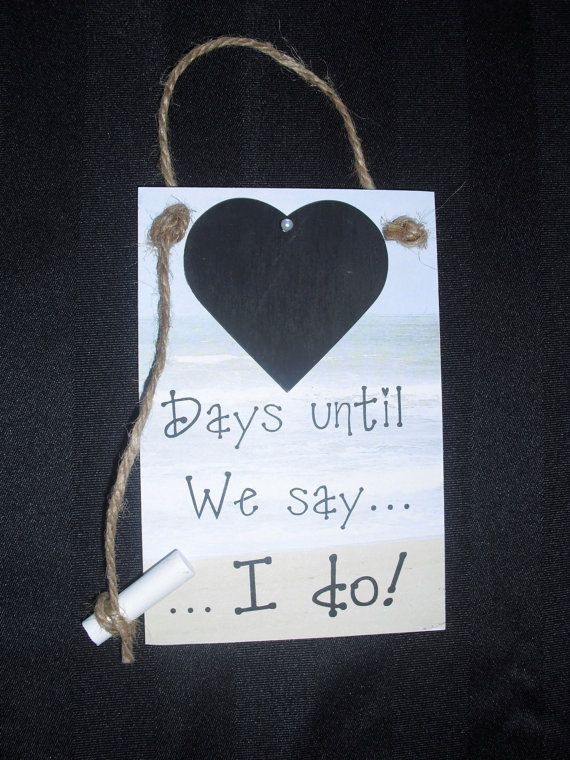"""Countdown To Wedding Gifts: Engagement Gifts For Couple. Wedding Countdown,""""Days Until"""