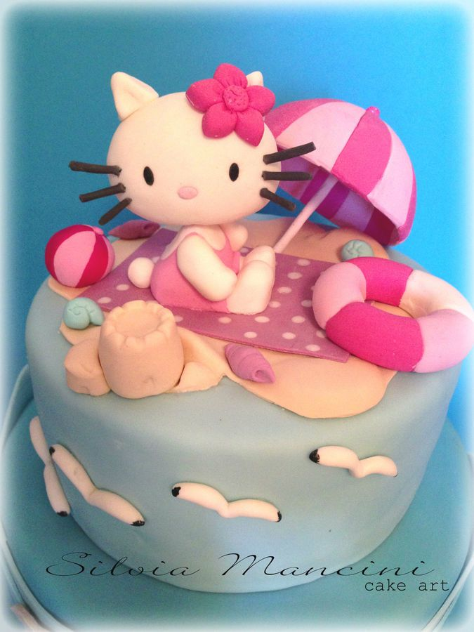 Hello Kitty On The Beach With Images Hello Kitty Cake Hello
