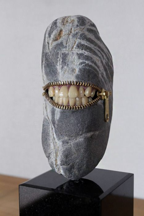 Stone teeth Sculpture by Hirotoshi Ito  | inspiration