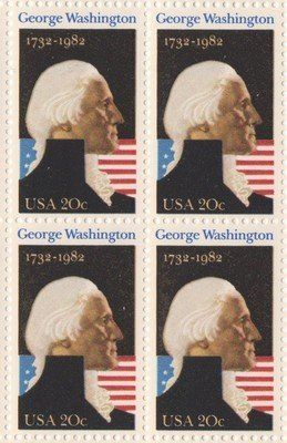 George Washington Set Of 4 X 20 Cent US Postage Stamps NEW Scot 1952 895 One Four