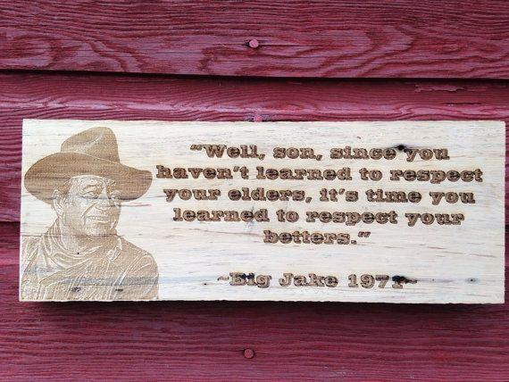John Wayne Quote On Rough Barnwood Etsy John Wayne Quotes John Wayne Movie Quotes John Wayne