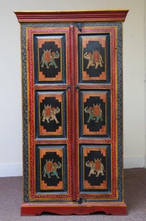 Hand Painted Elephant Cabinet