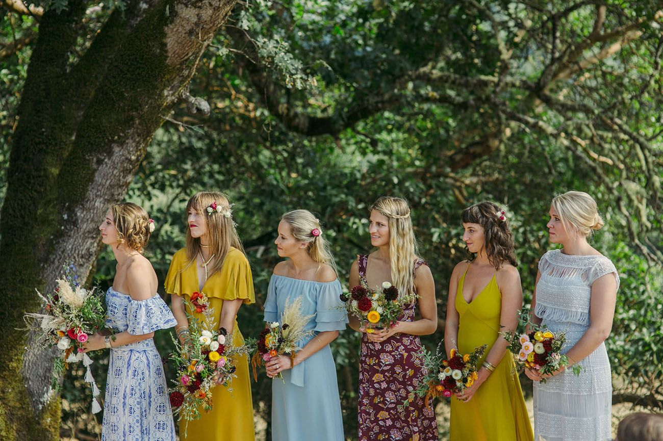 Mendocino Hippie Wedding Boho Wedding Bridesmaids Wedding Bridesmaids Hippie Wedding Decorations