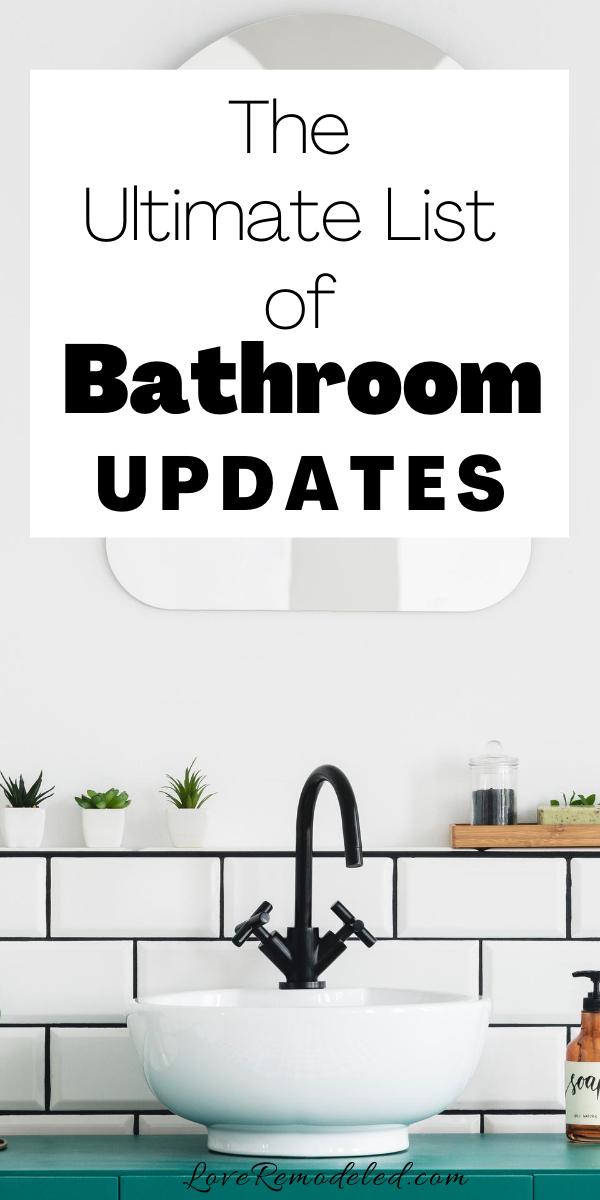 Easy Bathroom Updates In 2020 Easy Bathroom Updates Bathroom Update Easy Bathroom Upgrades