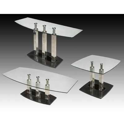Best Chintaly Cilla Coffee Table Set Black Coffee Table Sets 400 x 300