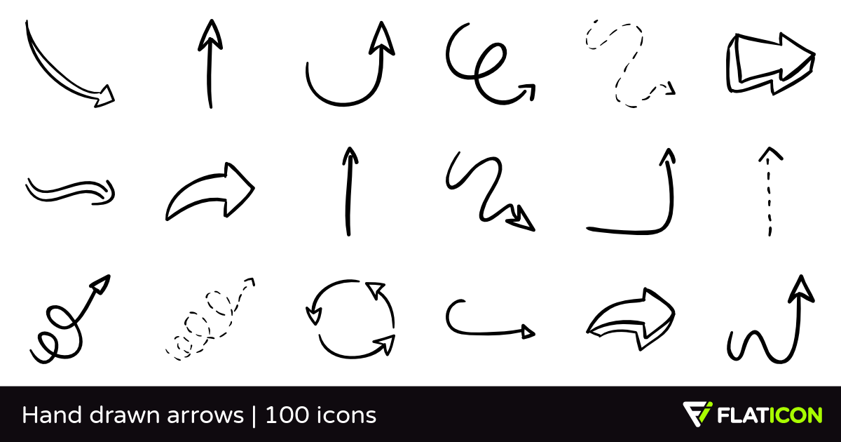 100 Free Vector Icons Of Hand Drawn Arrows Designed By Freepik Arrow Drawing Hand Drawn Arrows How To Draw Hands