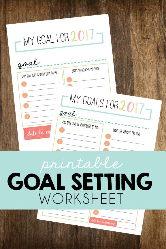 Printable Goal Setting Worksheet Goal Setting Worksheet