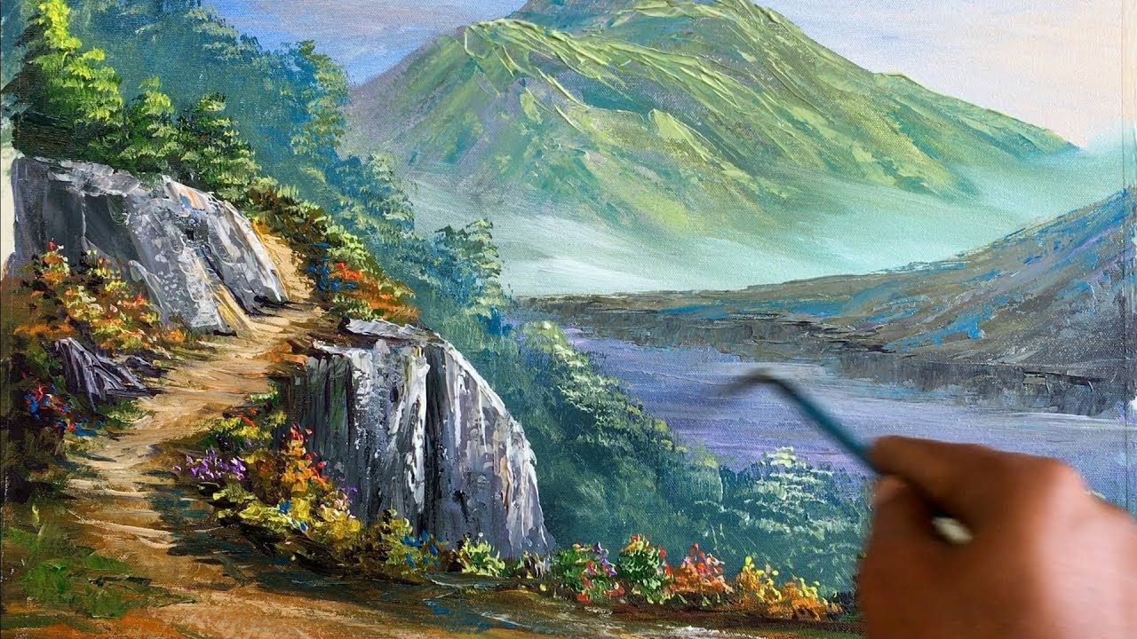 How To Make A Beautiful Scenery Painting Nature Painting Art Candy Nature Paintings Beautiful Scenery Paintings Scenery Paintings