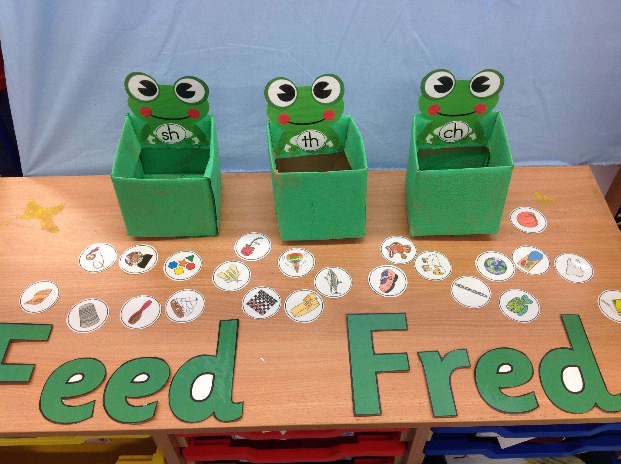 Sort the images by initial sounds, phonics, Read, Write