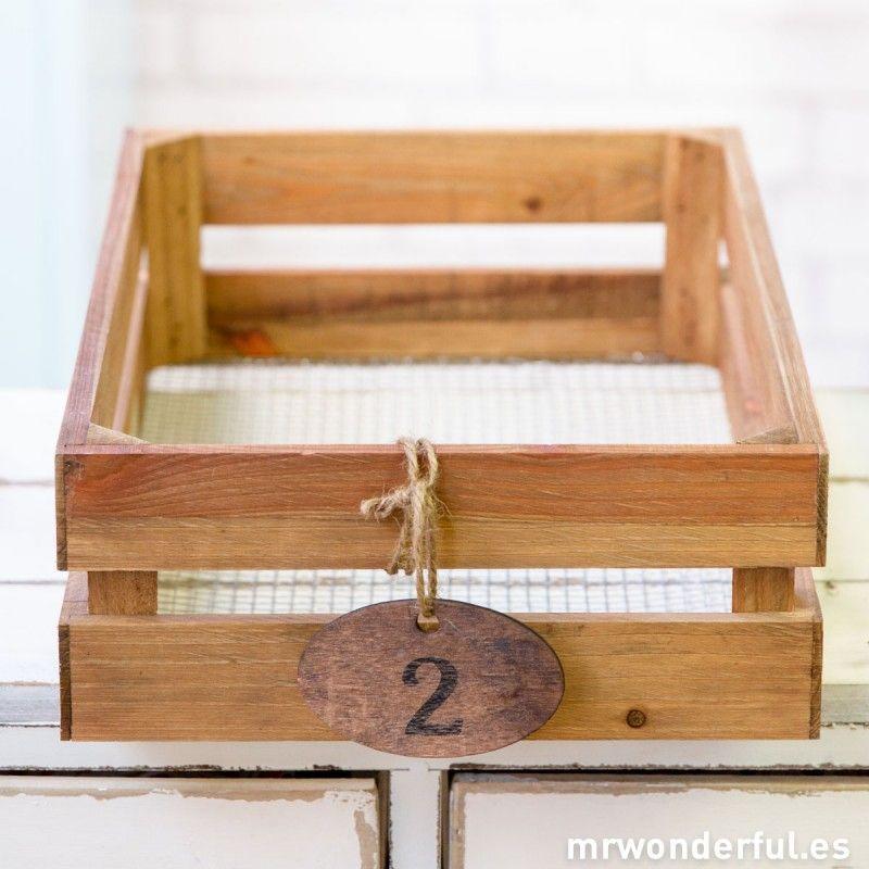 Caja peque a de madera para decorar mrwonderfulshop for Cajas de madera pequenas
