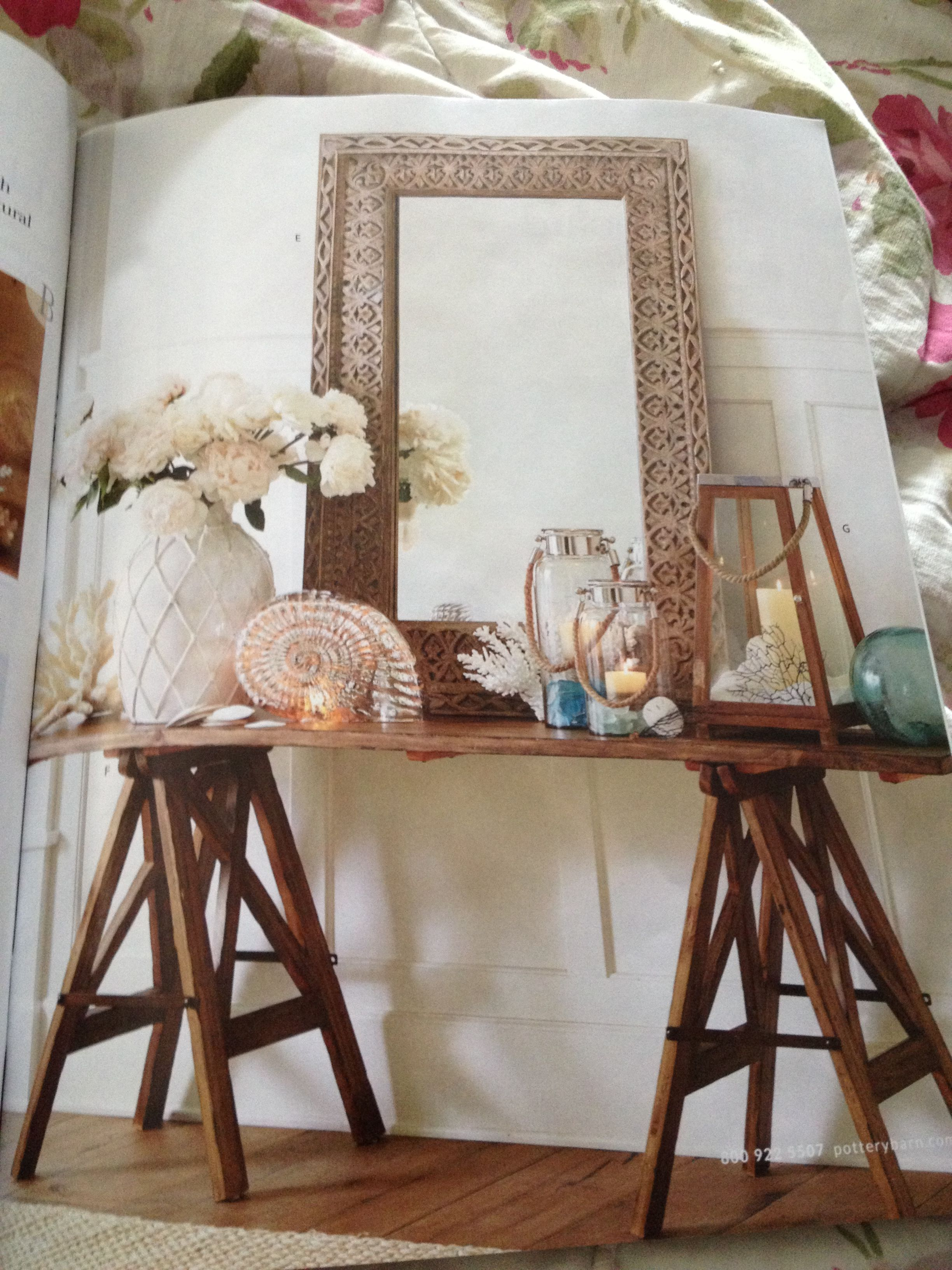 Pottery Barn Mirror To Sit On Mantel 38 X 50 Decorating Ideas