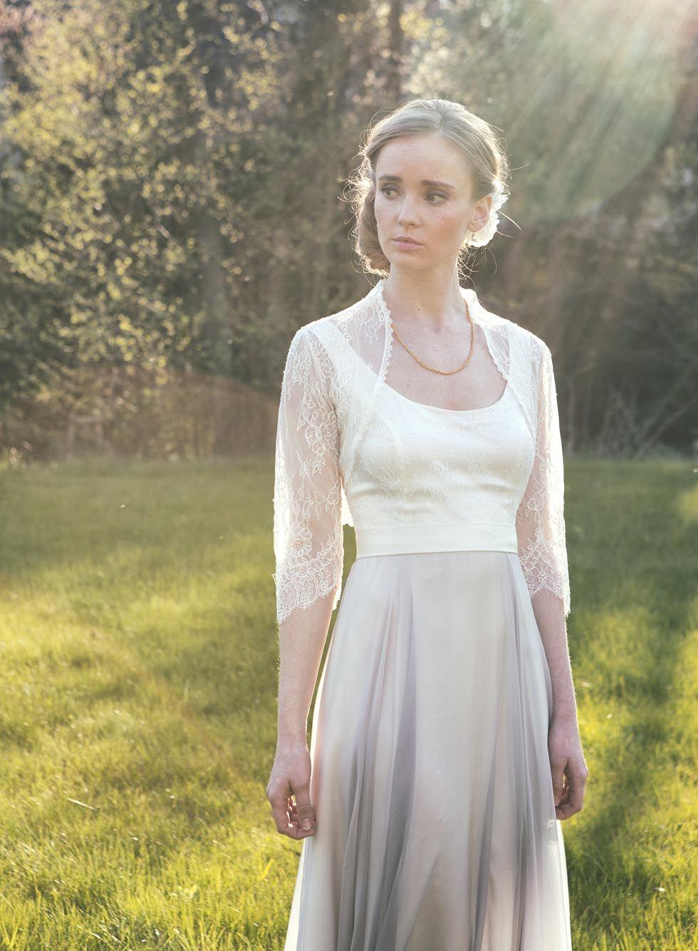 Spitzen-Bolero für euer Brautkleid und passende Haar-Blüte   Spitzen ...
