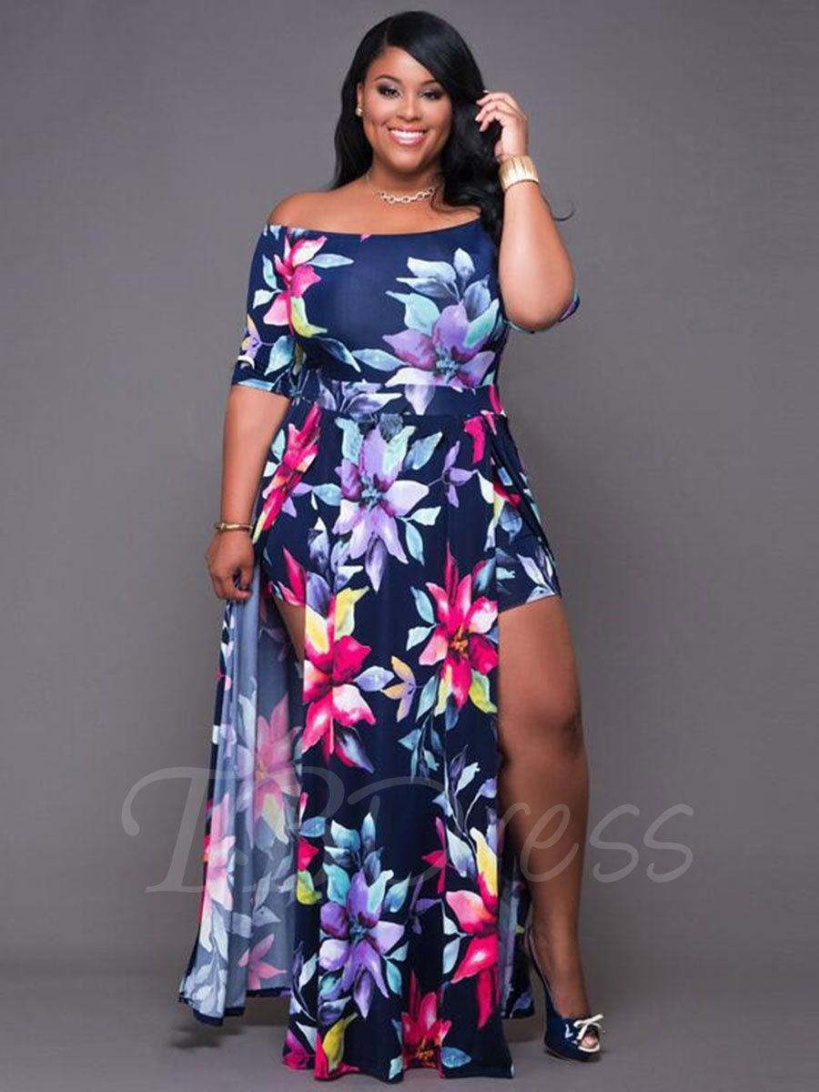 36bb04e88cf8 Tbdress.com offers high quality Boat Neck Short Sleeve Print Women's Maxi  Dress Maxi Dresses unit price of $ 21.99.
