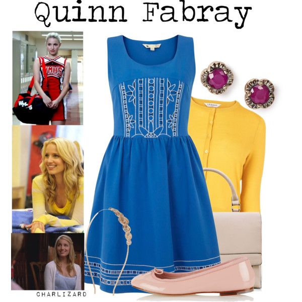49/50. Quinn Fabray by charlizard on Polyvore featuring polyvore, fashion, style, Yumi, L.K.Bennett, Bloch, Arik Kastan, River Island, glee and quinnfabray