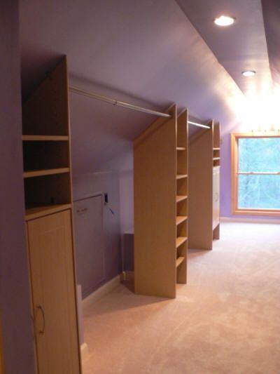 Attic Bedroom Storage Knee Walls