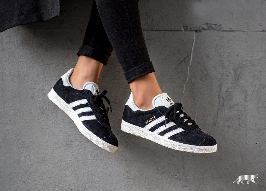 e2cce9153a6 adidas Gazelle (Core Black   Vintage White   Gold Metallic)