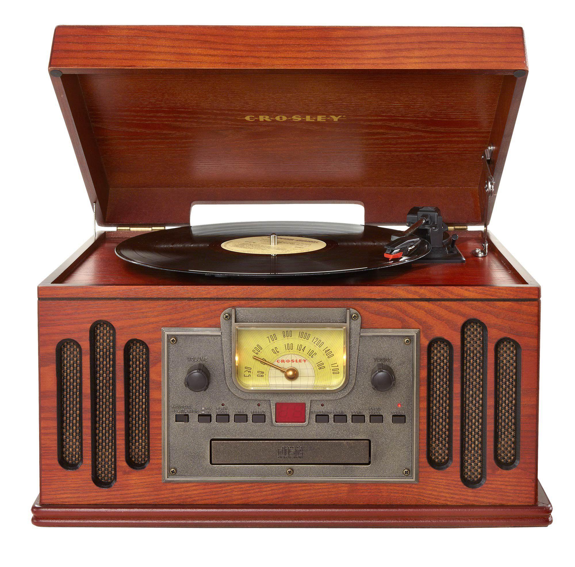 amazon com crosley cr704c pa musician 3 speed turntable with cd