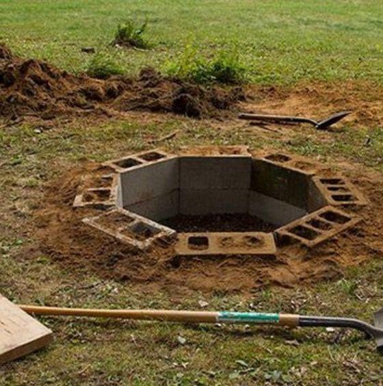 Diy Ground Fire Pit In Ground Fire Pit Fire Pit Backyard