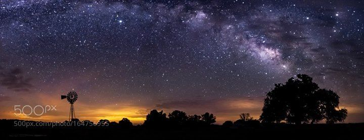 Milky Way over the Texas Hill Country  A classic Texas Hill Country landscape…