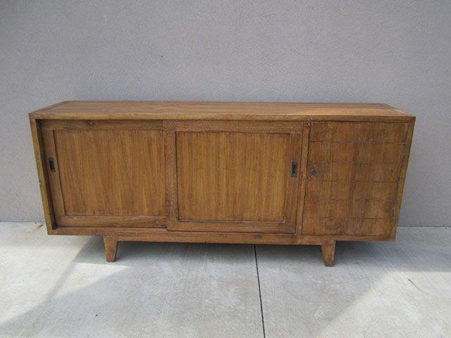 Buffet With Sliding Doors Nadeau Furniture Wood Shelves Furniture