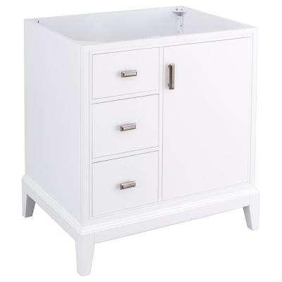 30 Inch Vanities White Single Sink Bathroom Vanities Bath The Home Depot In 2020 Vanity Cabinet Bathroom Vanities Without Tops 30 Inch Vanity