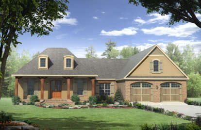 House Plan 041 00109 French Country Plan 1 870 Square
