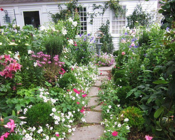 flower garden design ideas cottage stylecottage - Garden Design Cottage Style