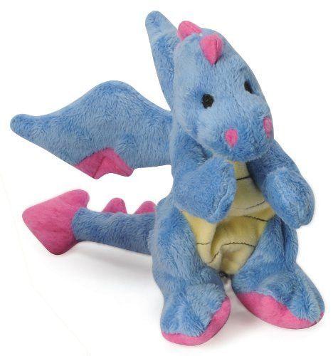 Godog Baby Dragon Plush Dog Toy Size Small Periwinkle Tough Dog