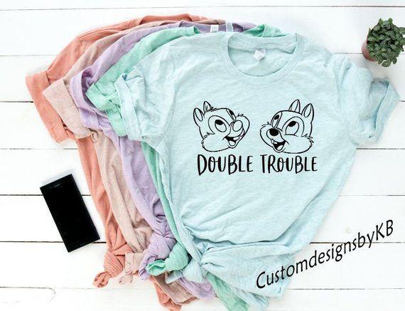 Double Trouble Chip And Dale Disney Shirt • Women and Men's Disney Shirts • Girl's Disney Shirts • Chip N Dale • Disney Park Shirt • Unisex