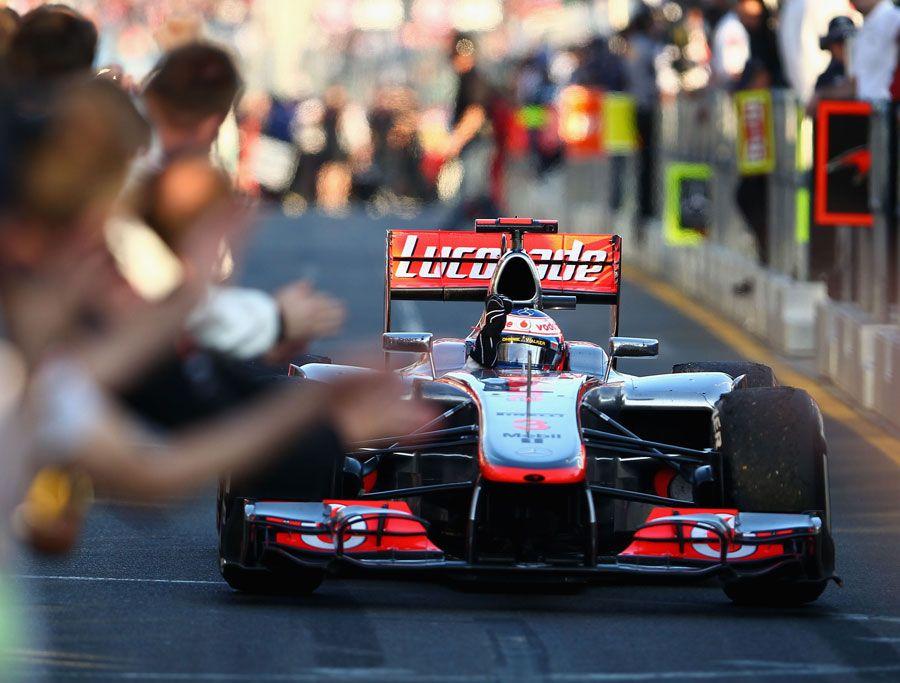 Formula 1 Australian GP Jenson Button returns to the pit