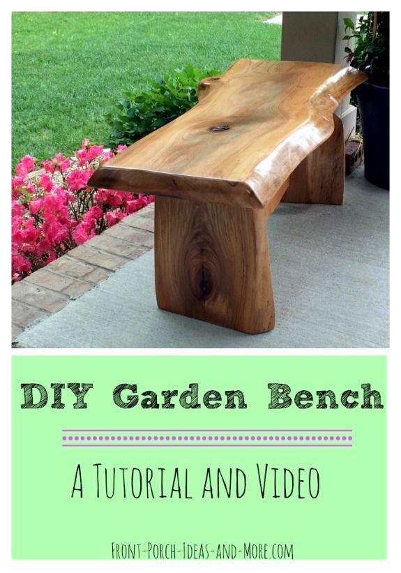 DIY Garden Bench Project #outdoorgarden