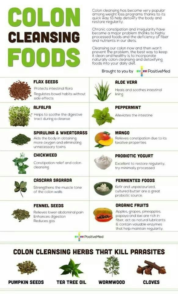 Colon cleansinv foods