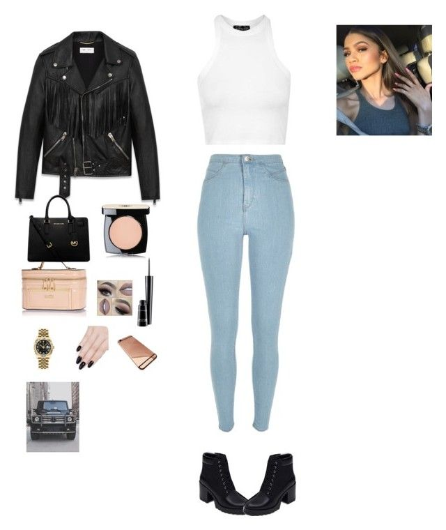 """My Sissy  Z #beawareslayage"" by randys ❤ liked on Polyvore featuring Chanel, River Island, MAC Cosmetics, Yves Saint Laurent, Rolex, ncLA, MICHAEL Michael Kors, Topshop and Zara"