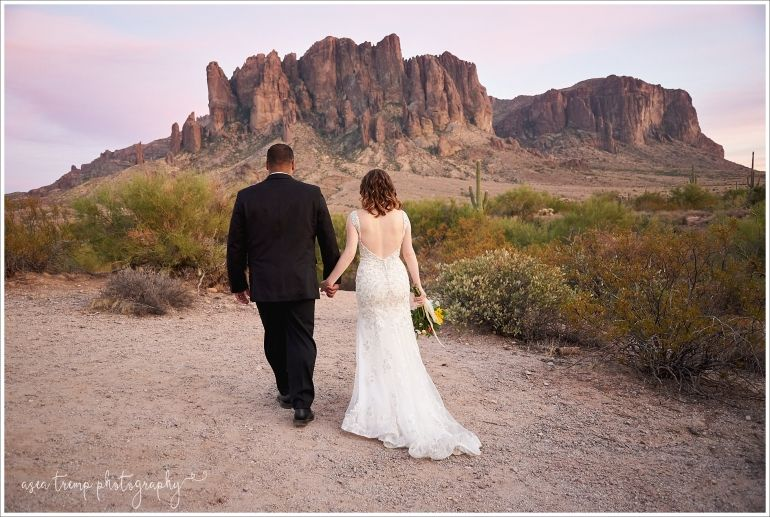 Supersion Mountains Wedding Lost Dutchman State Park Asea Tremp Photography