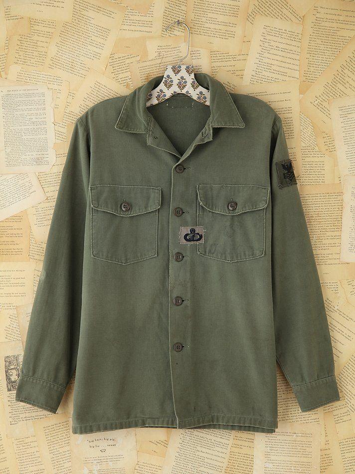Free People Vintage Hand-Painted Military Jacket, $228.00
