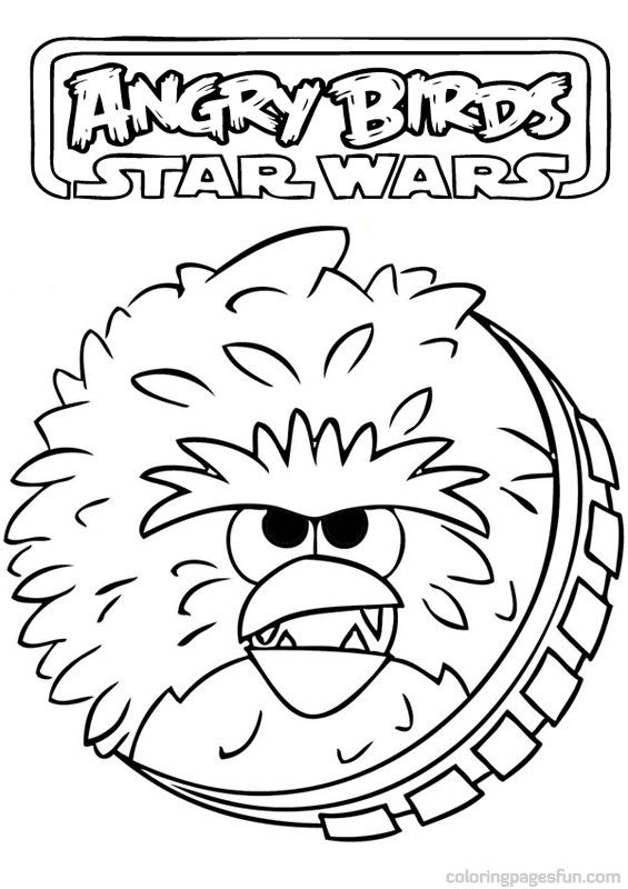 Angry Birds Star Wars Coloring Pages 14