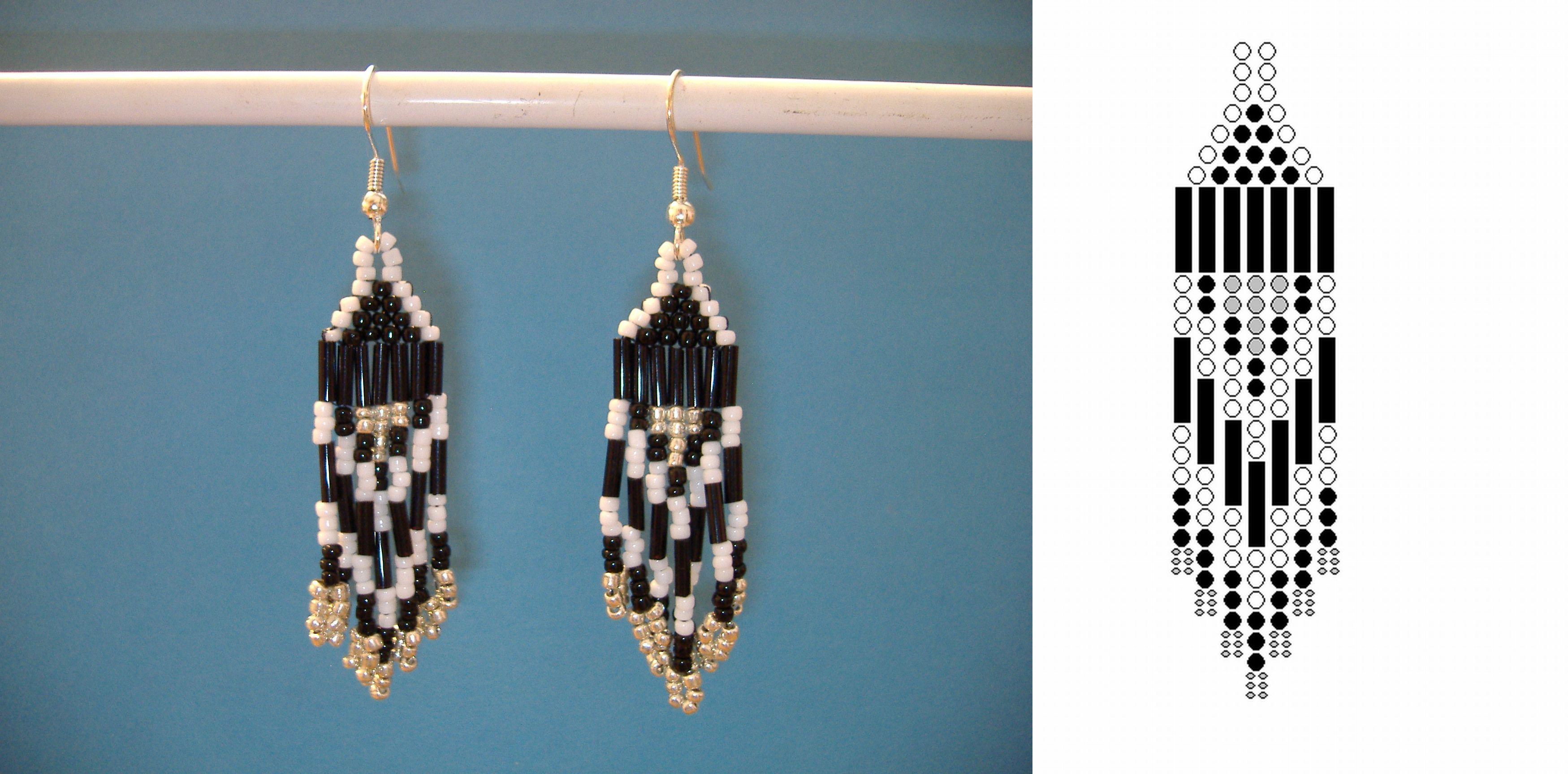 Seed bead earring pattern projektek amiket kiprblnk seed bead earring pattern baditri Image collections