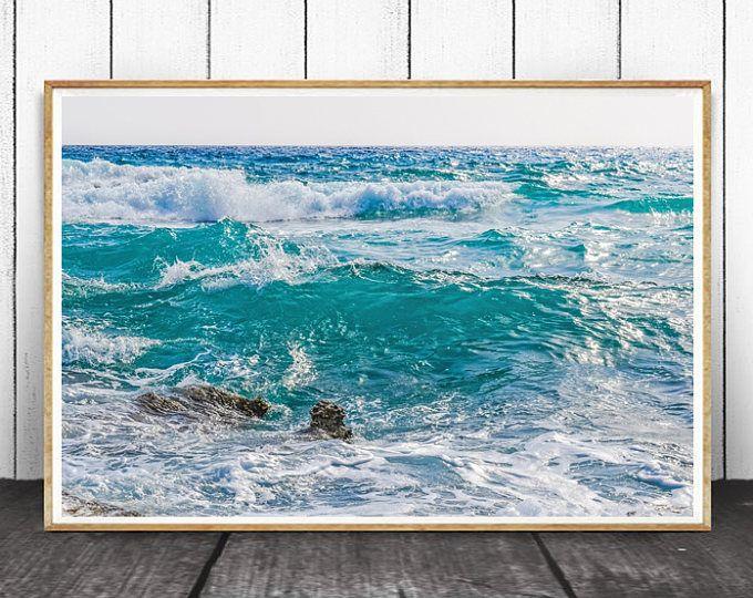 coastal print beach decor photo wall art ocean print coastal rh pinterest com