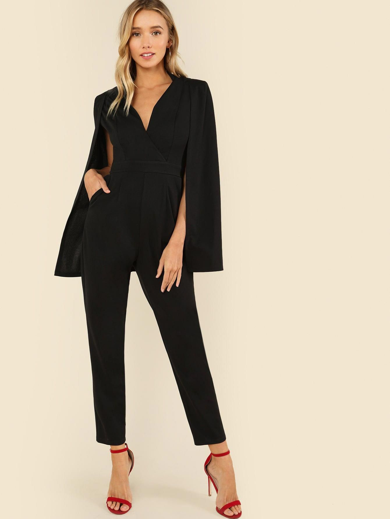 e4a1a01ef9 Womens Black Dressy Jumpsuit - raveitsafe