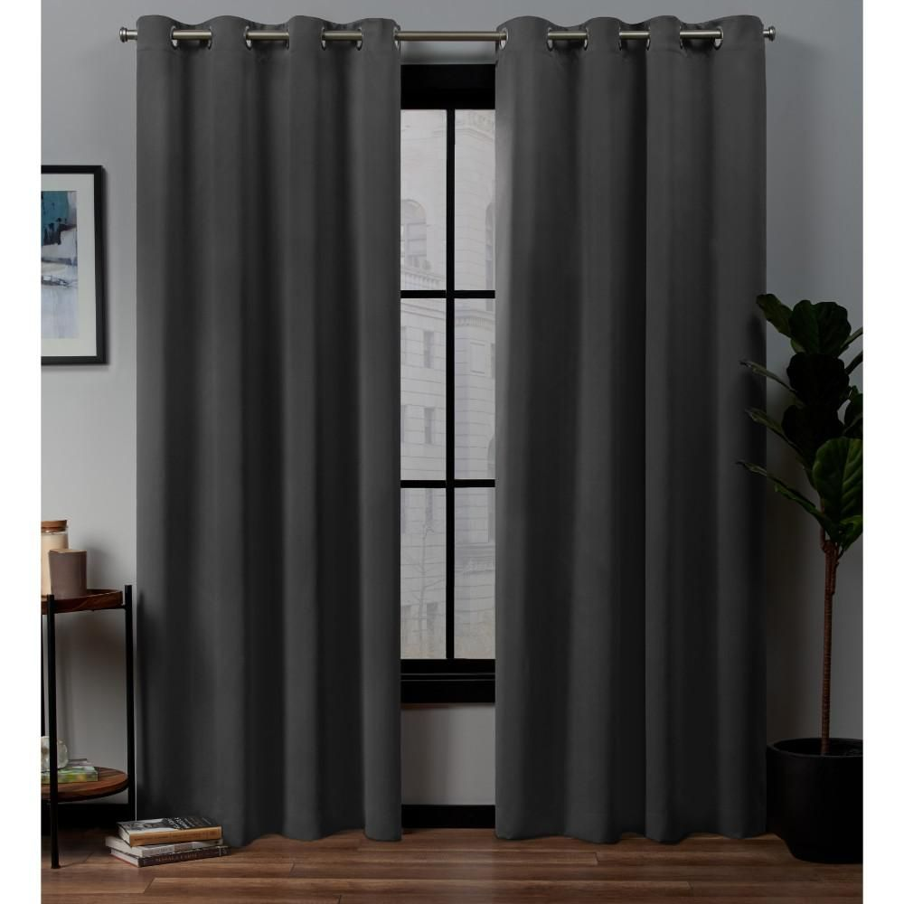 Exclusive Home Curtains Academy 52 In W X 84 In L Woven Blackout