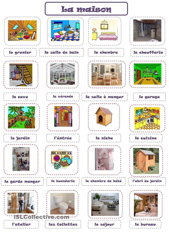 maison french learning pinterest maisons fle et. Black Bedroom Furniture Sets. Home Design Ideas