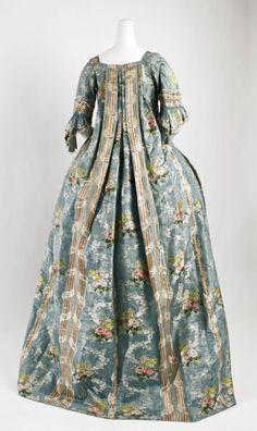 1765-1770, Italian Silk Robe à la Française  | 18th Century