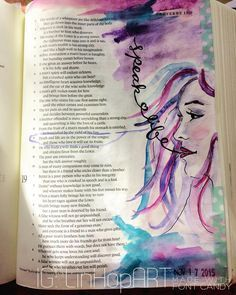 proverbs 18:21 bible journaling illustrated faith | Bible Art