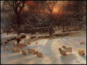 'The shortening winter's day is near a close' 1903, by Joseph Farquharson (1846 - 1935)