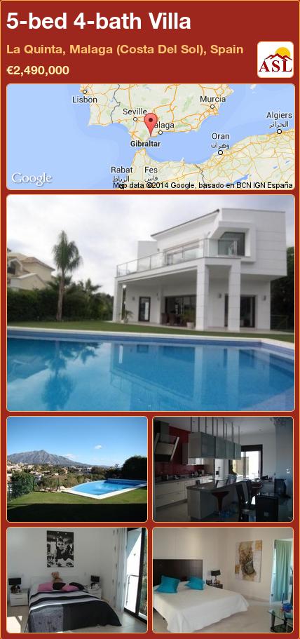 5-bed 4-bath Villa in La Quinta, Malaga (Costa Del Sol), Spain ►€2,490,000 #PropertyForSaleInSpain